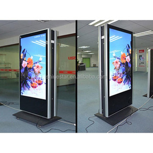 "32"" inch floor stand dual sided LCD display digital signage kiosk"