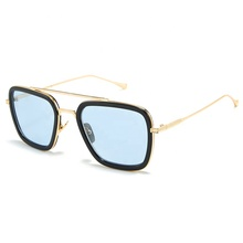 EDITH Tony Moderne Fer Homme <span class=keywords><strong>lunettes</strong></span> <span class=keywords><strong>de</strong></span> <span class=keywords><strong>Soleil</strong></span> Mode Alliage Matrice Cadre <span class=keywords><strong>Lunettes</strong></span> Populaire Film Spider Man Hérité Fer Homme <span class=keywords><strong>Lunettes</strong></span> <span class=keywords><strong>De</strong></span> <span class=keywords><strong>Soleil</strong></span>