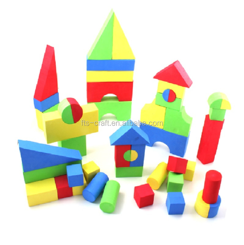 2019 Creative EVA soft Educational Toys gift EVA Foam Building Blocks