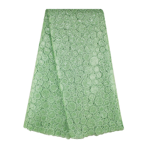 Mitaloo Good Price Mint Green Sequins Guipure Lace Factory Sell Guipure Cord Mint Green Fabric