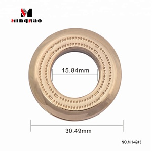 Custom made 30.49mm zinc alloy light gold round metal eyelet for bag