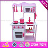 2016 wholesale wooden kids kitchen set W10C058-A11