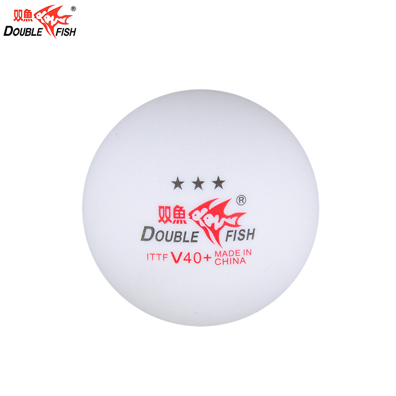 Good quality Chinese famous 3 star ping pong ball Doublefish table tennis ball for gaming ittf approved table tennis