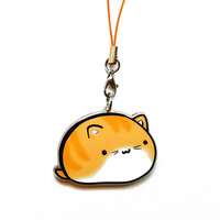 Acrylic Cartoon Lucky Cat Promotional New Mobile Phone Charm