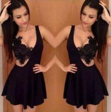 Woman party girl mini dresses western fashion lady new sexy lace dresses