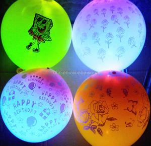new led latex balloon factory wholesale party decortion glow in the dark favor light up balloon colorful flashing as neon