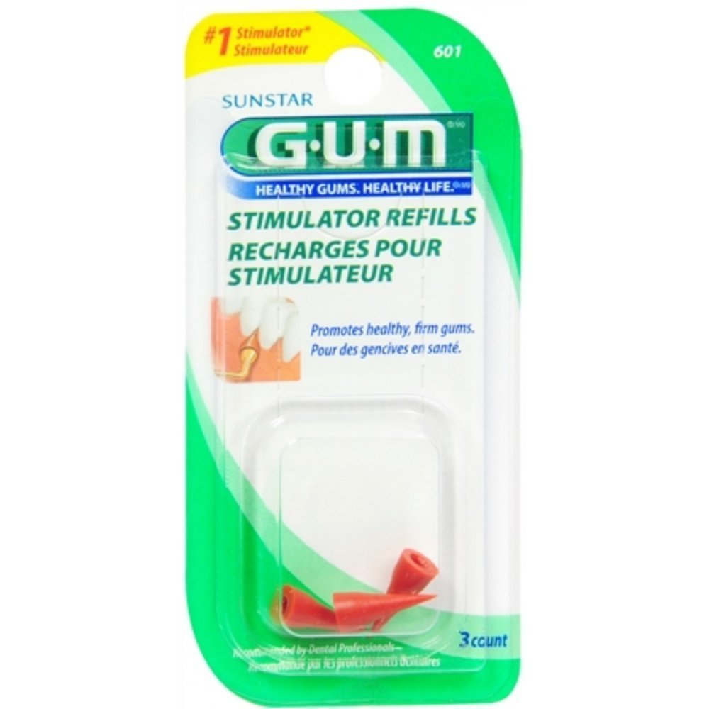 GUM Stimulator Refills [601] 3 Each (Pack of 4)