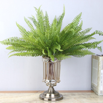 Wholesale artificial PVC Persian leaf for home decoration