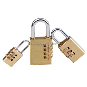 Brass Body Dial Combination Padlock