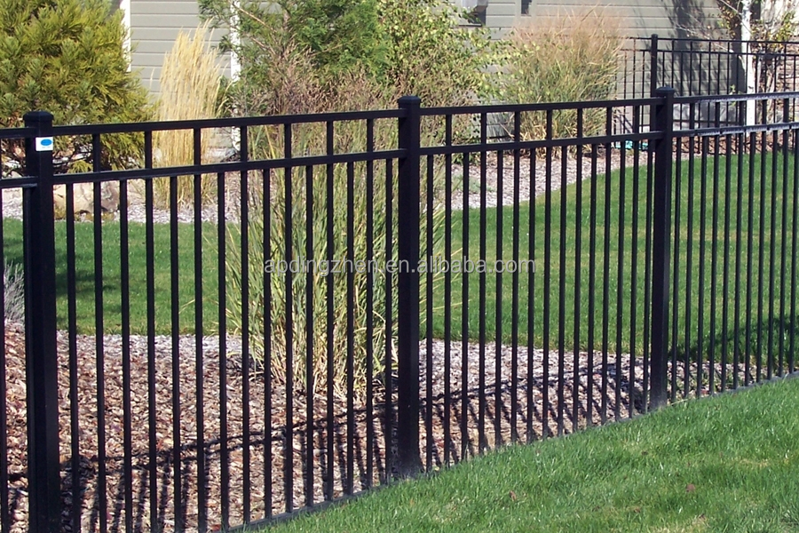 Cheap Wrought Iron Fence Panels For Sale / Galvanized