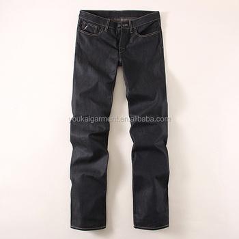 Europe Jeans Type Streetwear Men Gender Classic Black Straight ...