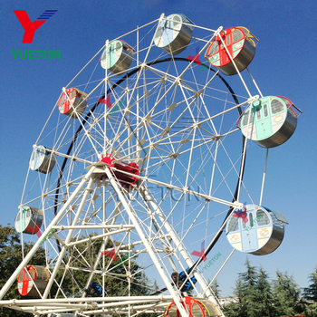 Yueton Outdoor Amusement Park Manege Attraction Carnival Items Equipment Cabin Giant Big Ferris Wheel For Amusement