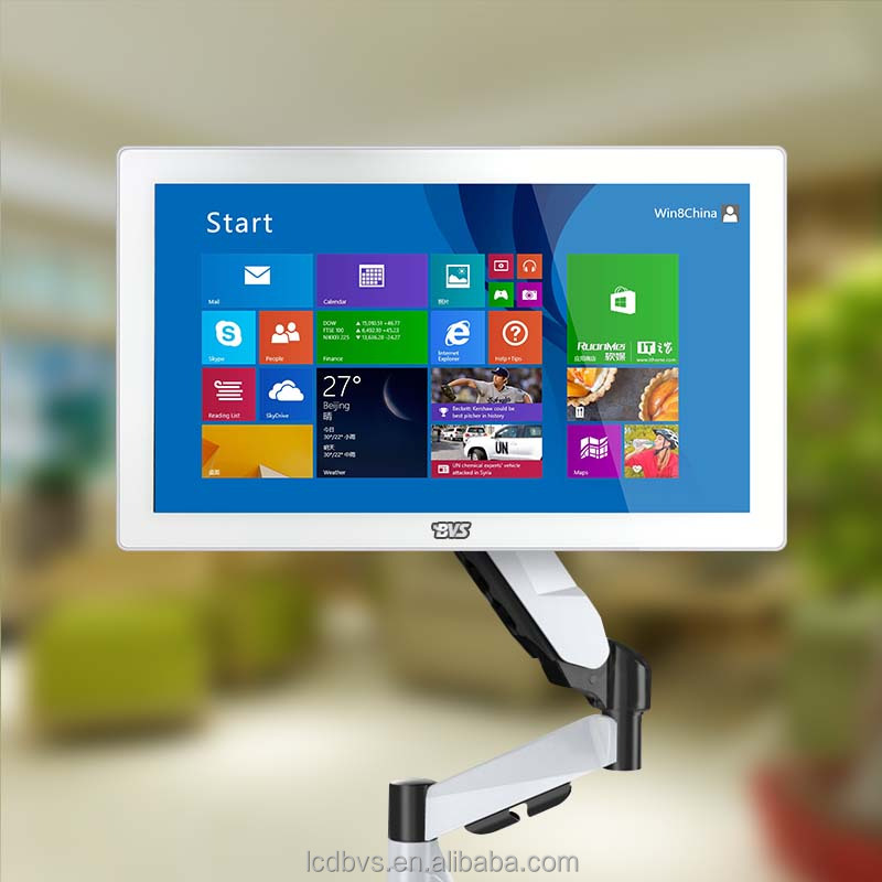 15 inch wall mount Multimedia advertising all in one <strong>pc</strong> with touch screen ram 4gb ssd 128gb