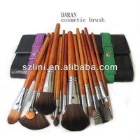 15 pcs china factory cosmetic makeup brush kit for lady