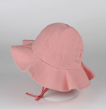 Korean version pure cotton baby hat summer along the hood male fisherman baby  boy girl princess b34aa9efe8f