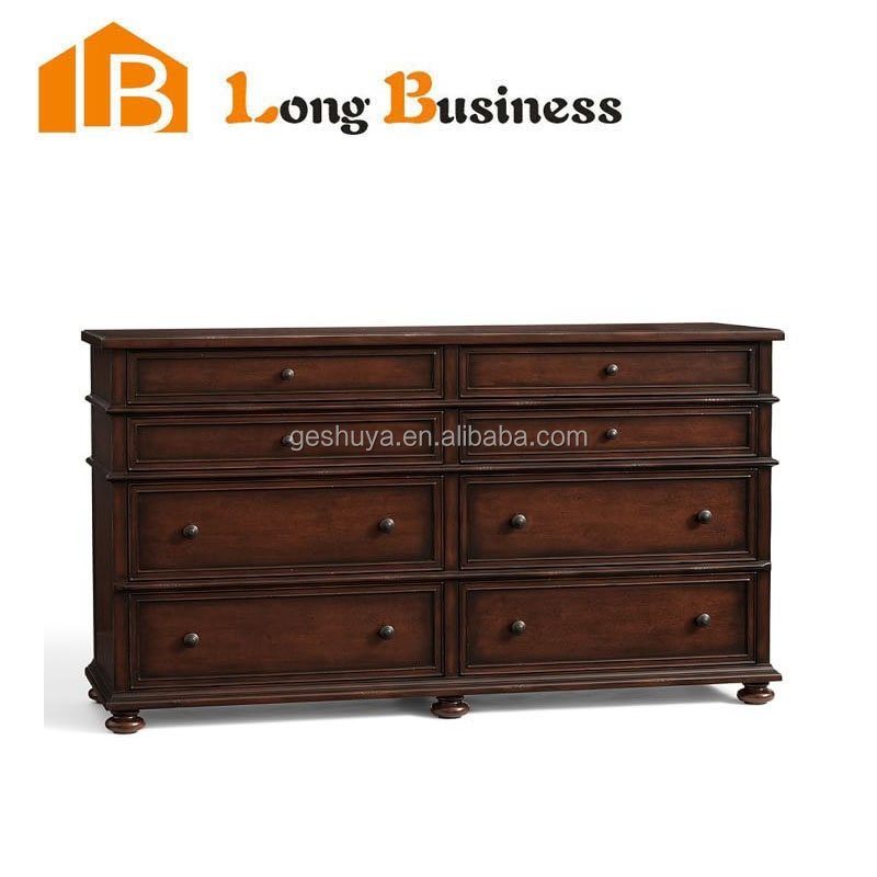 LB-VW5027 Refined eco-friendly Victorian style corner oak chest of drawers