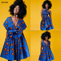 Wholesale newest african printing dress high quality anarkali apparel