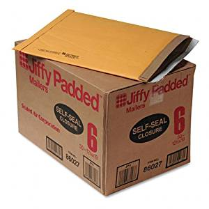 Sealed Air 86027 - Jiffy Padded Self-Seal Mailer, Side Seam, #6, 12 1/2x19, Gold Brown, 50/Carton-SEL86027