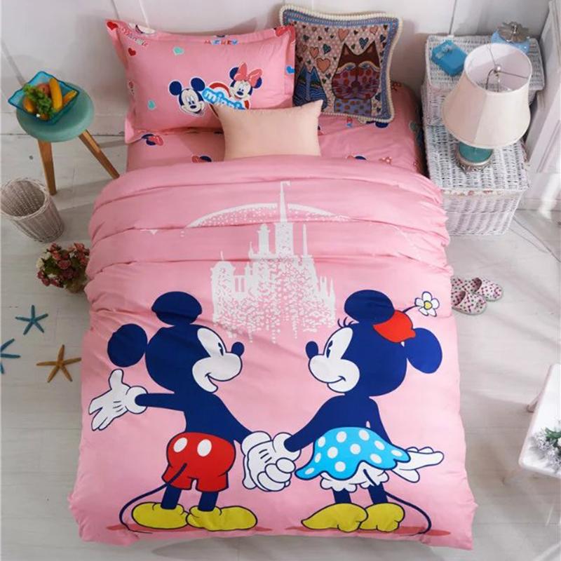 hohe qualit t gro handel minnie maus bettw sche set aus china minnie maus bettw sche set. Black Bedroom Furniture Sets. Home Design Ideas
