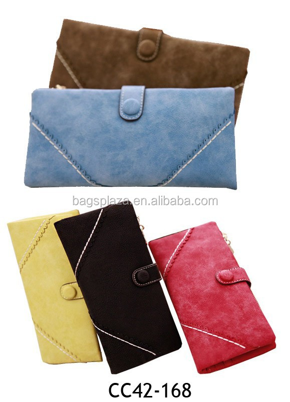 Lots of colors wallet fancy ladies clutch purses with buckle purse CC42-168