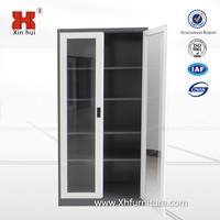 Glass Door File Storage 2 Door Steel Cabinet