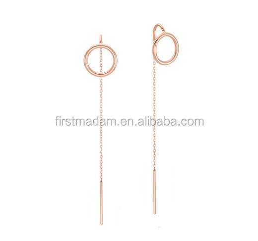 Rose Gold Ear Wire Findings in Sterling Silver