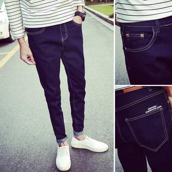 0654a823e 2016 Venta al por mayor ropa de pantalones de mezclilla hombres Skinny Jeans  azul oscuro