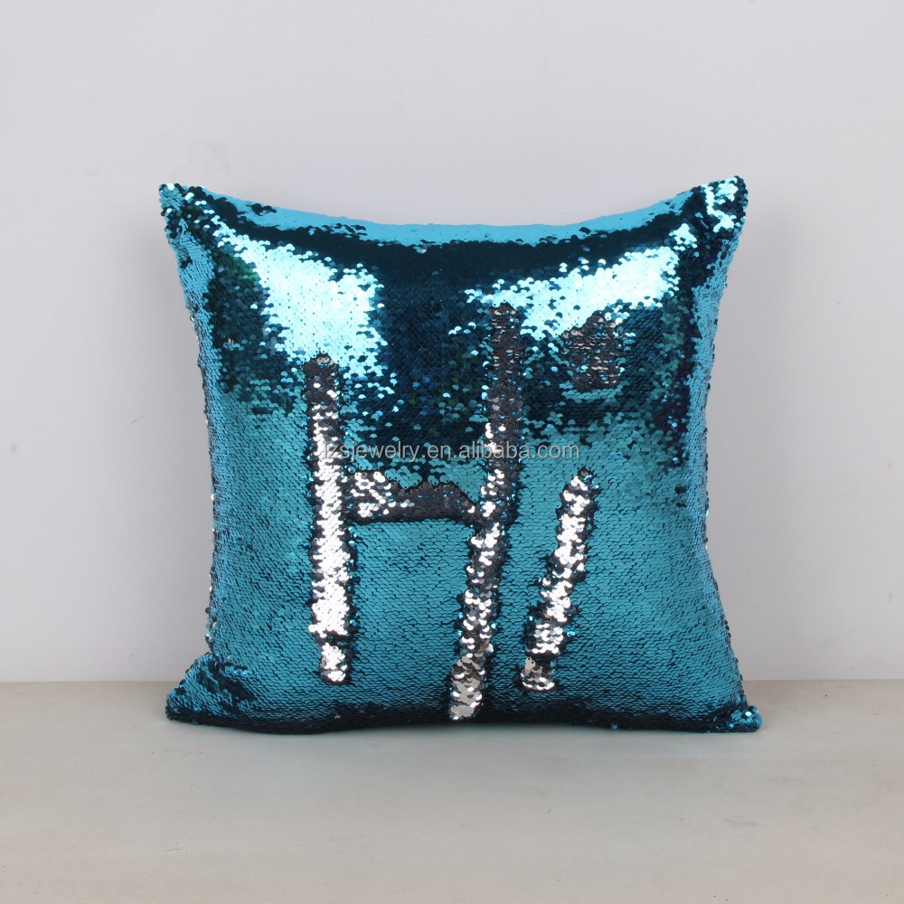 Adorable Present 40 x 40 cm Pillow Case Sequin Cover DIY Magic Colors Change Cushion Cover Bolster