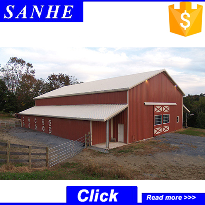 High quality Light Steel structure Indoor Horse Riding Hall / Horse Riding Arena