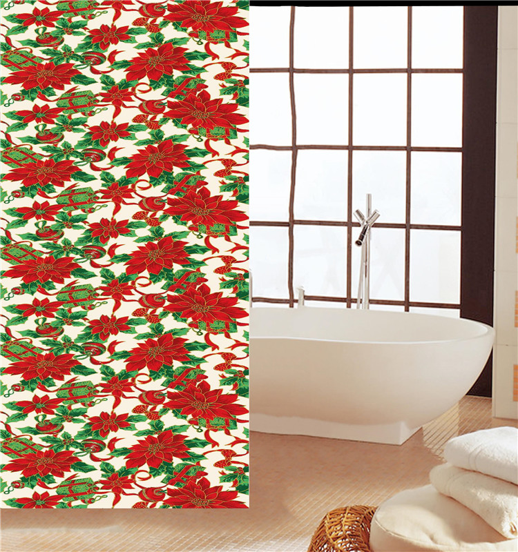 Christmas Fabric Shower Curtains, Christmas Fabric Shower Curtains ...