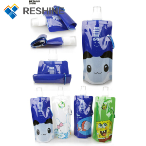 Reusable Foldable Drinking Water Spout Pouch foldable water bottle