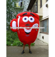 cute inflatable coffee cup costume for advertising, customized inflatable coffee cup mascot costume for sale