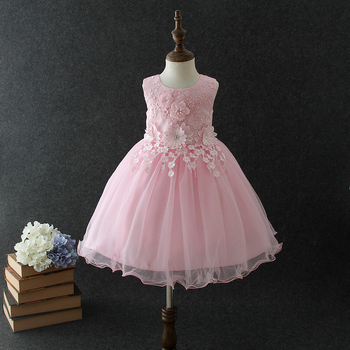 b7056014ee3a Beautiful flower girl dresses Vietnam pink Angel baby girls birthday party  dress puffy ball gown wedding