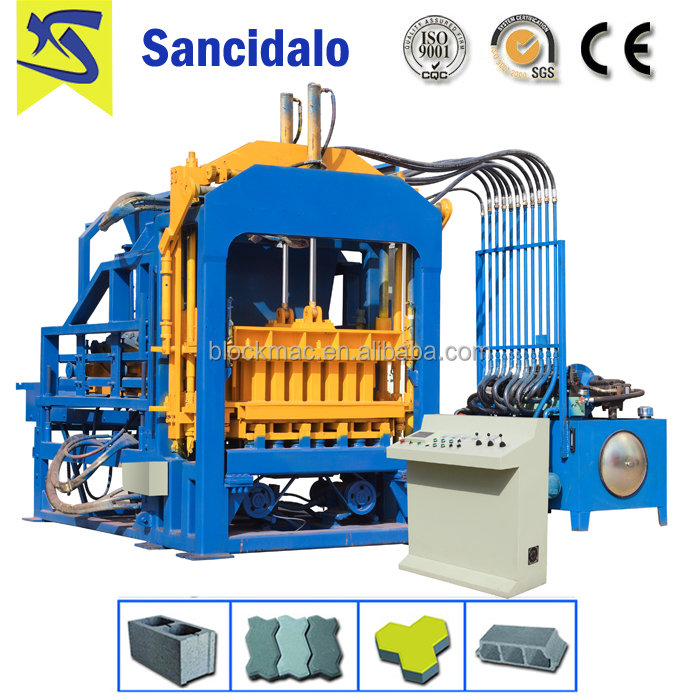 QT4-20 automatic cement inter locking brick making machine with low price