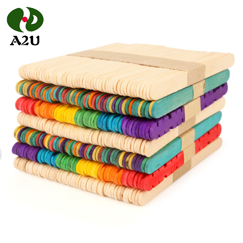 Width Color Birch Wood Food Safety Ice Cream Popsicle Stick Art
