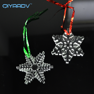 Christmas Decoration Acrylic Hanging Tree Ornament 3D Snowflake