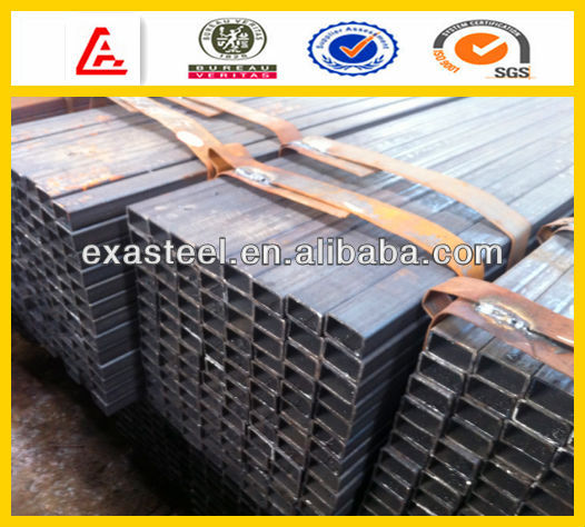 High quality black steel pipe value size