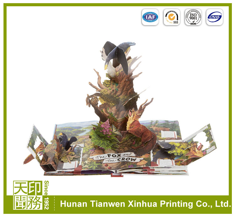 Wholesale children story pop up book printing publisher