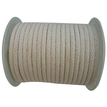 Natual /white color 6mm solid Cotton Braided Sash Cord