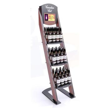 Floor Standing Whiskey Display Shelf Rack/wood Liquor Display Stand For  Sales Promotion - Buy Whiskey Display Shelf Rack,Whisky Display Rack,Wine