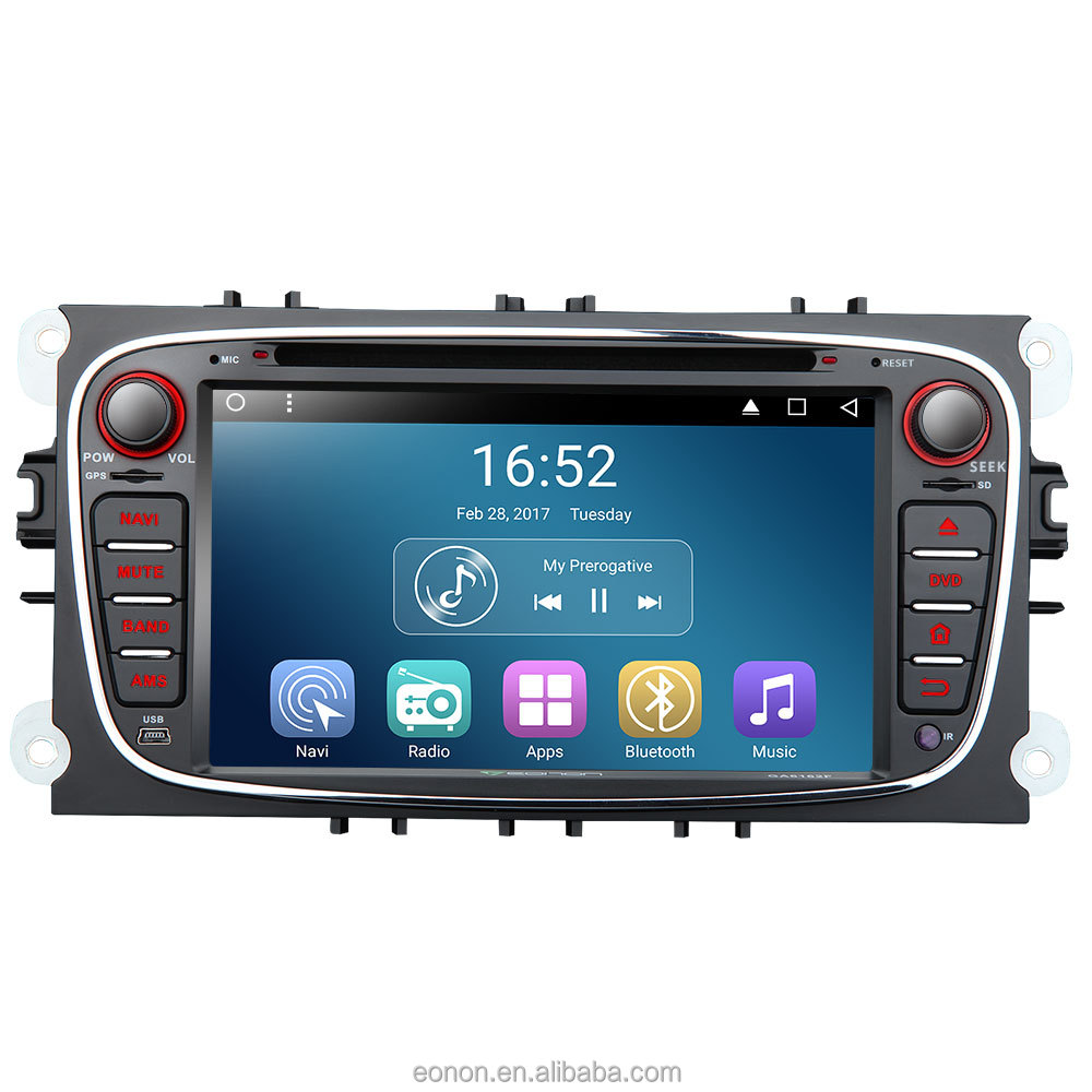 Eonon GA7162 for Ford Mondeo/S-max Android 6.0 7inch Multimedia Car DVD GPS Supports Dual CAN Bus System