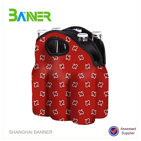 Promotional low price insulated wine holder neoprene bottle sleeves