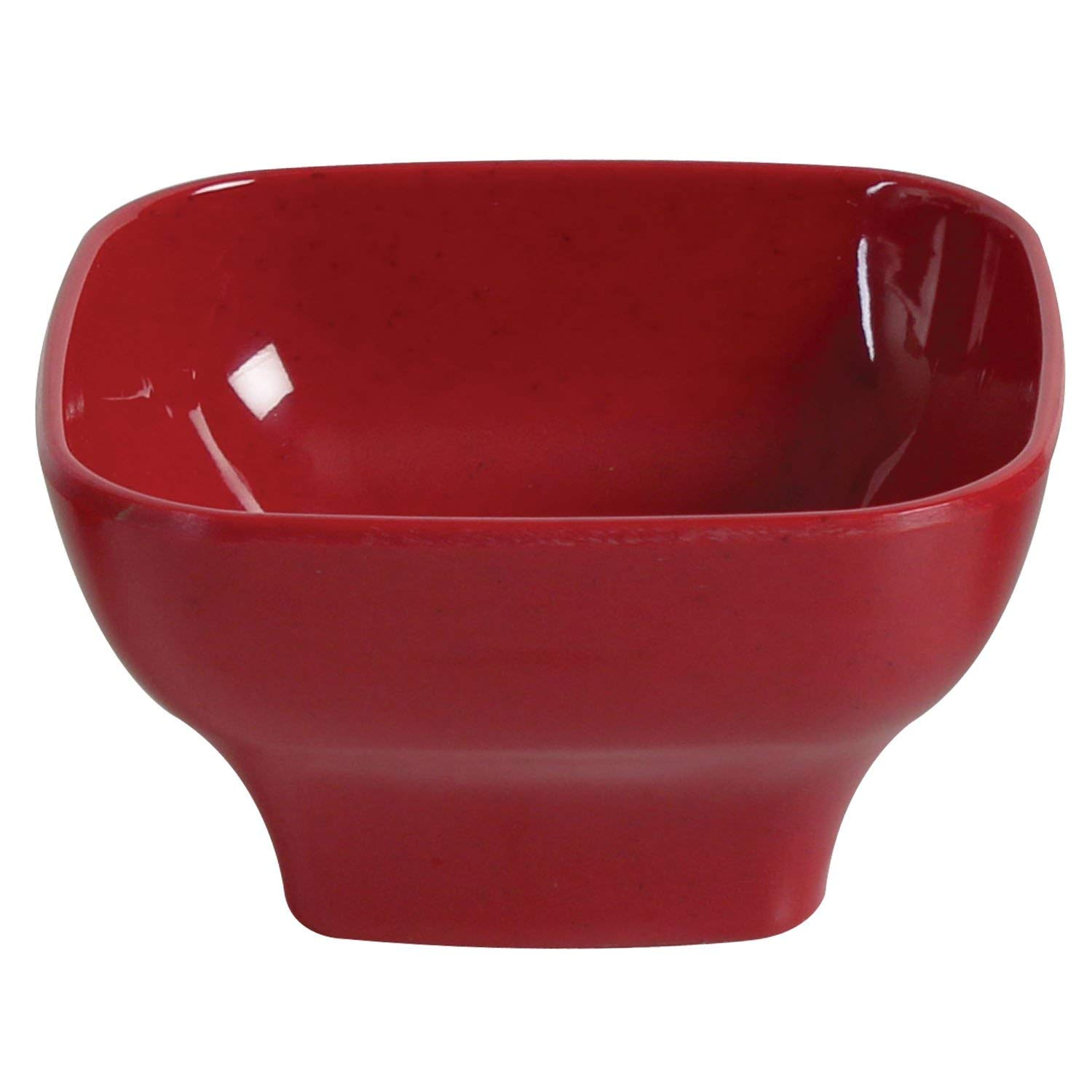 Global Goodwill Jazz Series 1-Piece Round Square Bowl, 4-3/4 by 4-3/4-Inch, 14-Ounce, Jazz Red
