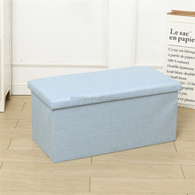 "Foldable Leather Storage Ottoman Bench Footrest Stool, Coffee Table Cube For Home, Office, Garden, Traveling, 35""x15""x15"""
