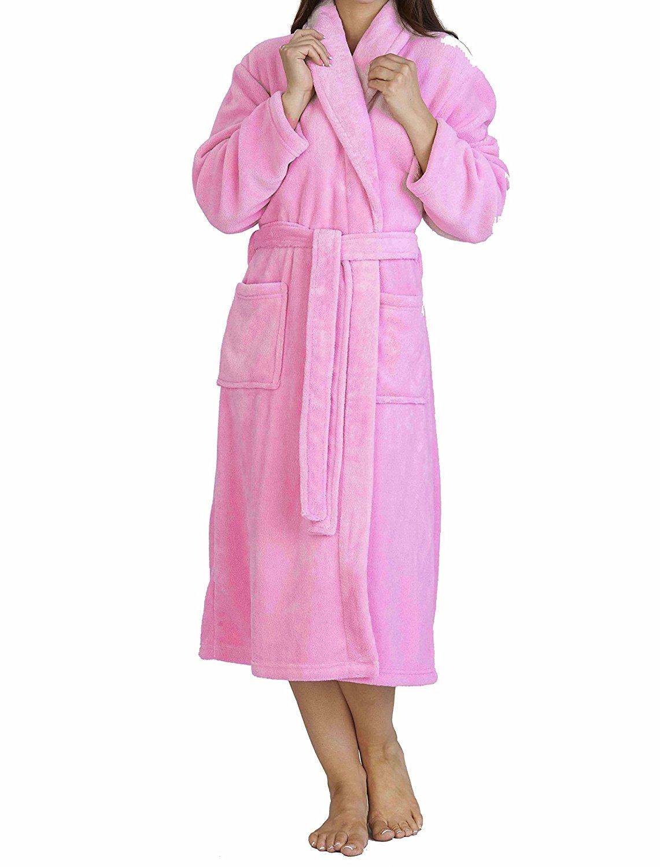 Get Quotations · Slenderella Ladies Luxury Soft Fleece Shawl Collared Bath Robe  Dressing Gown Housecoat 15adf72e2