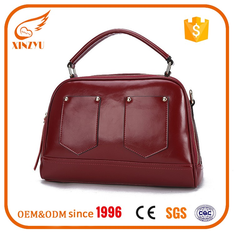 old fashioned handbag factory price wholesale elegance leather satchel  woman handbag 46be3d4b9d95