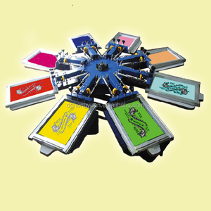 Manual Screen Printing Equipment 8 Color T-Shirt Screen Printing Press
