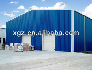 assembly light steel structural used industrial sheds for sale with sandwich panel