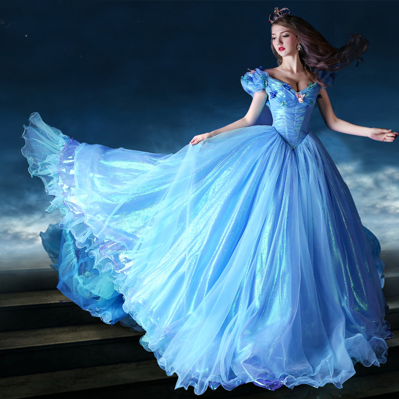 071a5d761a Cinderella Fancy Quinceanera Dresses Evening Prom Party Wedding Bridal Ball  Gown