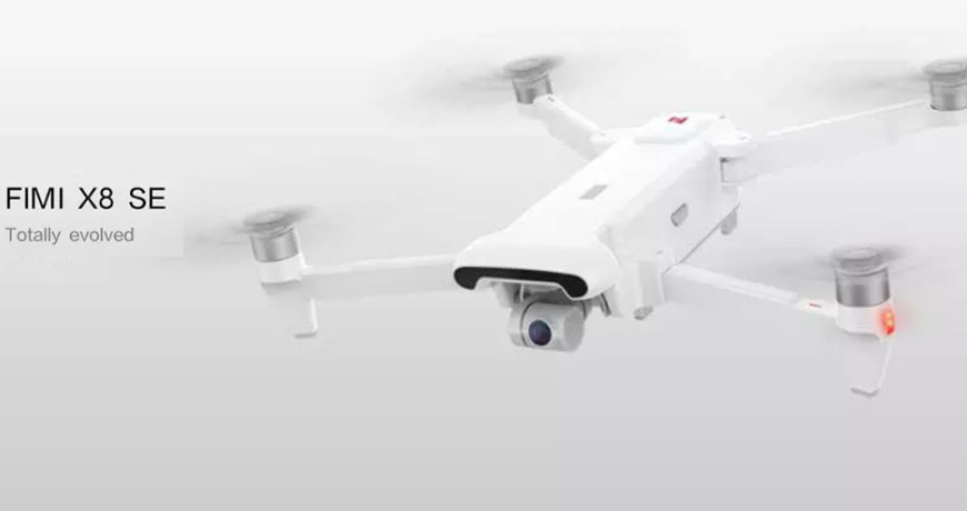 Global Version Xiaomi FIMI X8 SE Drone 4K Camera GPS 33mins Flight Time RC Drone Quadcopter White in Stock